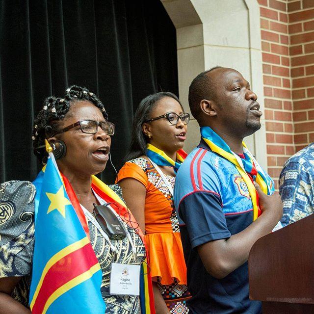 La délégation congolaise célèbre la fête de l'Indépendance